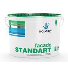 Колорит Фасад Стандарт, латексная акриловая краска, 9 л