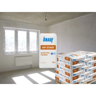 Knauf HP Start, штукатурка гипсовая стартовая (10-30 мм), 30 кг -