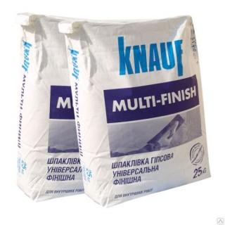 Knauf MultiFinish, шпаклевка гипсовая финишная (1-5 мм), 25 кг  -
