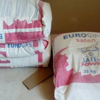 SatenGips Евро, шпаклевка гипсовая финишная (0,5 -5 мм), 25 кг -