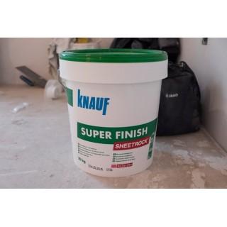 Knauf SuperFinish SHEETROCK, готовая универсальная шпаклевка (1-3мм), 28 кг -