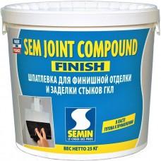 Semin Sem Joint Compaund готовая шпаклевка для стыков ГКЛ (1-3 мм), 25 кг