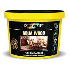 AQUA WOOD лак для мебели, 3 л