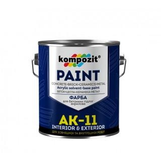АК-11 Краска для бетонных полов, акриловая, 10 кг
