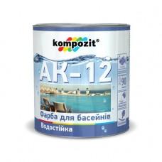 АК-12 Краска для бассейнов голубая, 2,8 кг
