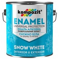 Kompozit эмаль алкидная Снежно-белая, 12 кг
