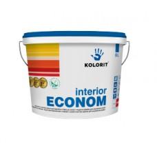 Колорит Интериор Эко, акриловая краска для стен, 10 л