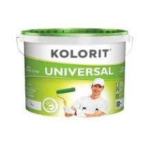 Колорит Универсал, акриловая краска для внутренних и наружных работ, 10 л