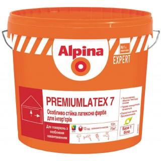 Альпина Премиум Латекс 7, краска устойчивая к истиранию, 10 л
