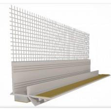 Приоконный профиль с стекло-тканевой сеткой, 9мм 2,5м