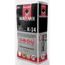 Wallmix К-14 Клей для керамогранита и теплых полов, 25 кг