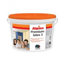 Alpina PremiumLatex 3, латексная акриловая краска, 10 л