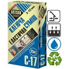 Артисан С 17, клей повышенной фиксации для плитки, 25 кг