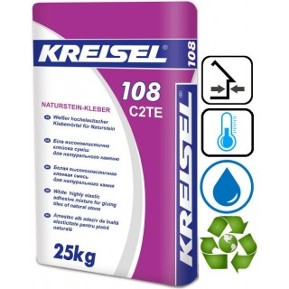 Kreisel 108, Kreisel 108 белый клей для натурального камня, 25 кг