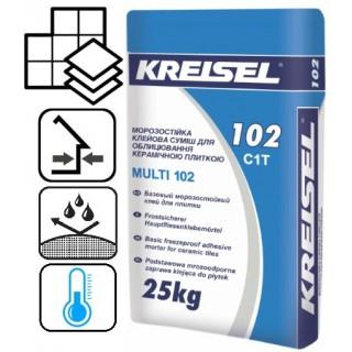 Kreisel 102, морозостойкий клей для плитки, 25 кг