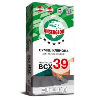 Ансерглоб BCX 39 клей для пенопласта и минваты , 25 кг.