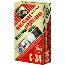 Артисан С-34 «короед», декоративная минеральная штукатурка, 25 кг