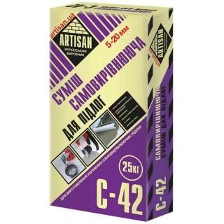Артисан С-42, цементный самовыравнивающийся пол (5-20мм), 25 кг