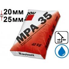 Baumit MPА 35, штукатурка цементно-известковая стартовая (20-25 мм), 25 кг