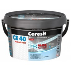 Сeresit CE40 Аквастатик, цветная затирка для швов (1-6мм), 2 кг