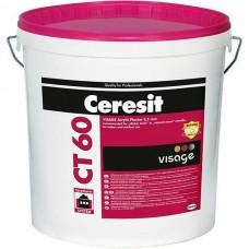 "Ceresit CT-60 ""Камешковая"", готовая декоративная акриловая штукатурка, 25 кг"