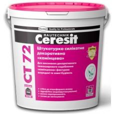 "Ceresit CT-72 ""камешковая"" готовая декоративная штукатурка силикатная, 25 кг"