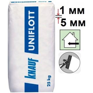 Knauf Uniflott, шпаклевка гипсовая для стыков гипсокартона (1-5 мм), 25 кг