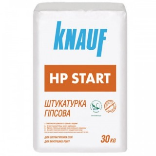 Knauf HP Start, штукатурка гипсовая стартовая (10-30 мм), 30 кг