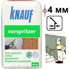 Knauf Форшпритцер, цементная штукатурка-обрызг (4 мм), 40 кг