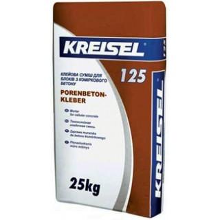 КREISEL 125, Кладочная смесь для ячеистого бетона, 25 кг