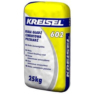 КREISEL 602 (Белая), шпаклёвка цементная финишная (до 5мм), 25 кг