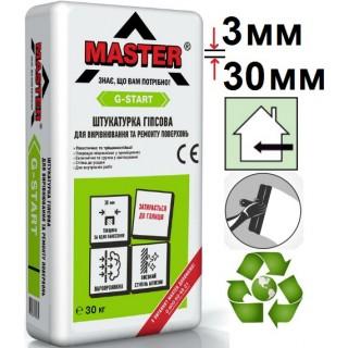 Мастер G-Start, штукатурка гипсовая стартовая (3-30мм), 30 кг
