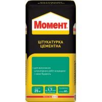 Цементная штукатурка МОМЕНТ, стартовая (до 20 мм), 25 кг