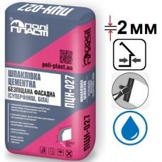 Полипласт ПЦН-027 Суперфиниш, шпатлевка полимерцементная, белая, 20кг