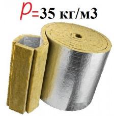 KNAUF Nobasil LSP35 фольгированная минеральная вата для труб