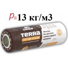 URSA terra, минеральная вата в рулонах (15 м2), 50 мм
