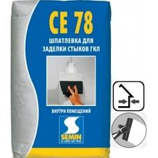 SEMIN СЕ-78 Шпаклевка гипсовая для швов ГКЛ, 25 кг