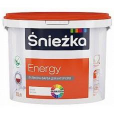 Śnieżka ENERGY, матовая латексная краска для интерьеров