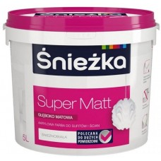Sniezka Super Matt, глубокоматовая акриловая краска