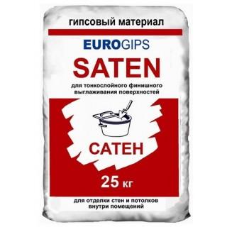 SatenGips Евро, шпаклевка гипсовая финишная (0,5 -5 мм), 25 кг