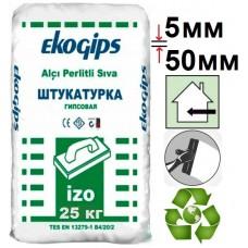 IzoGips Эко, штукатурка гипсовая стартовая (5-50 мм), 25 кг